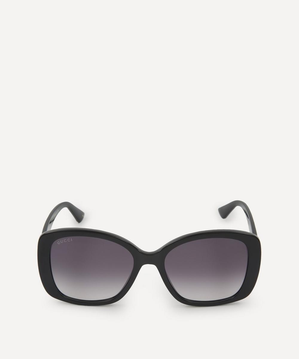 Gucci - Oversized Acetate Butterfly Sunglasses