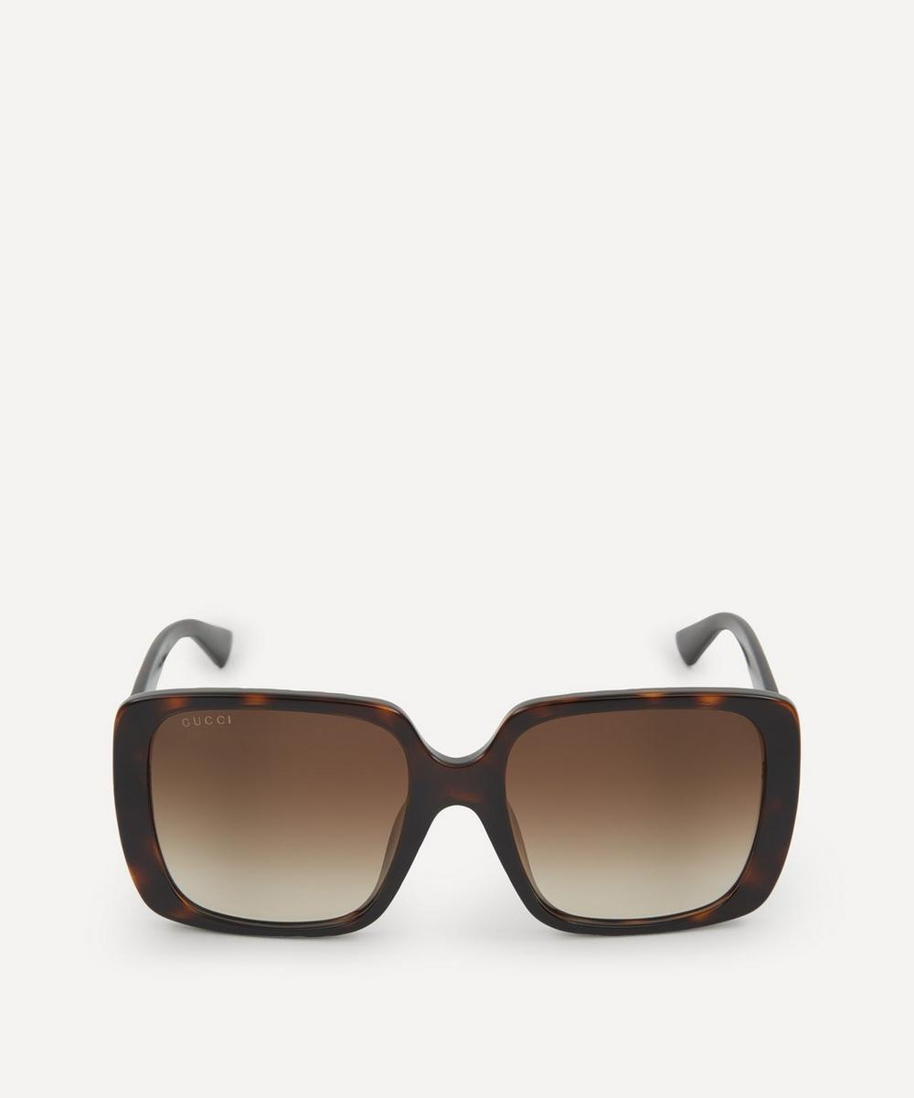 Gucci - Oversized Angular Square Acetate Sunglasses