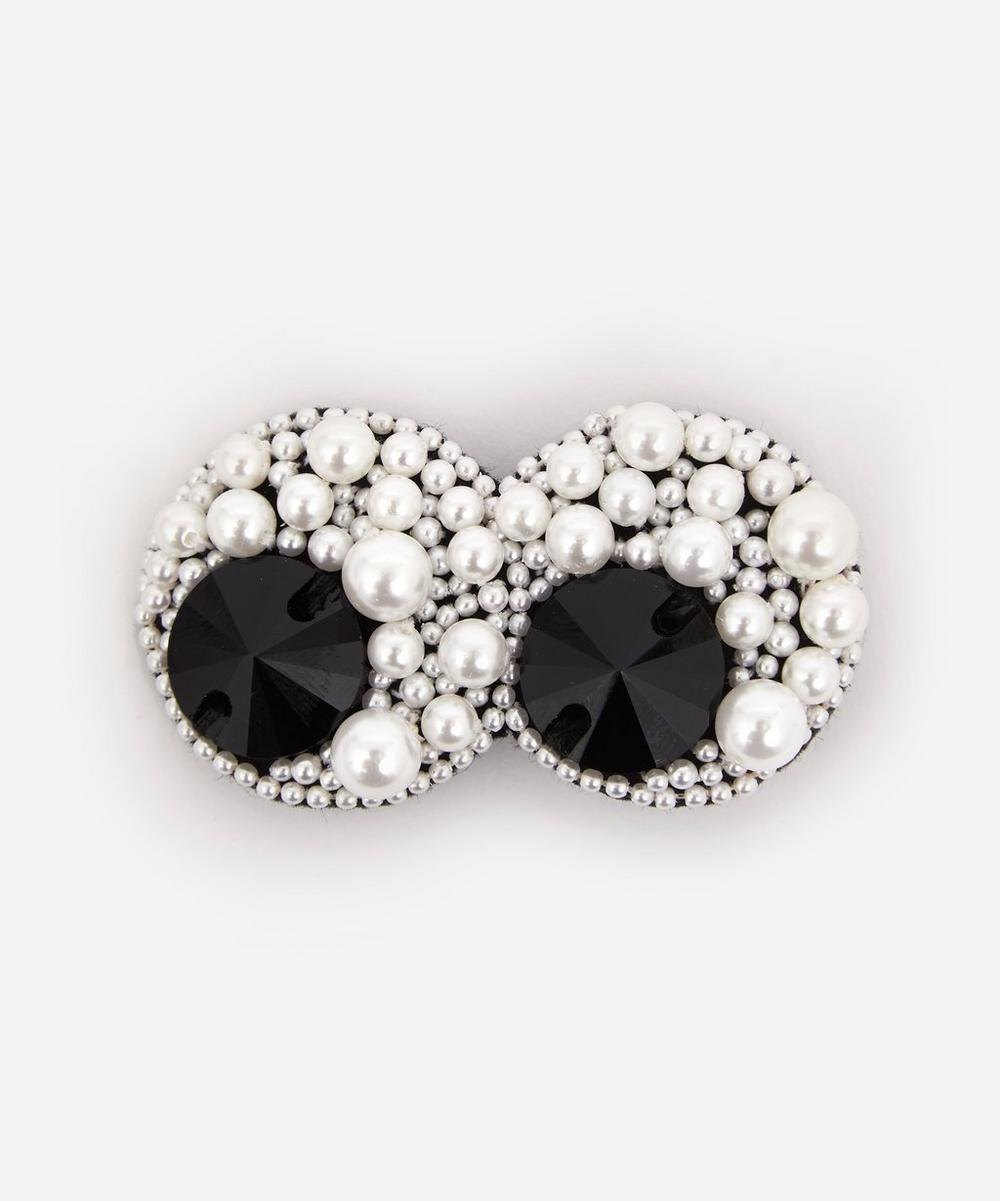 Anya Hindmarch - Pearl Eyes Beaded Bag Brooch