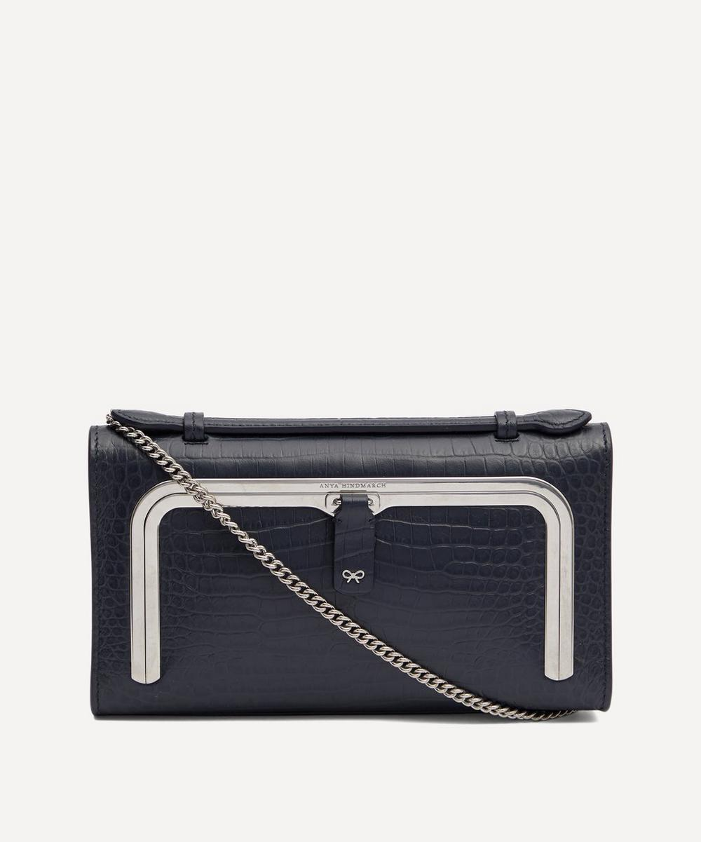 Anya Hindmarch - Croc-Embossed Leather Mini Postbox Cross-Body Bag