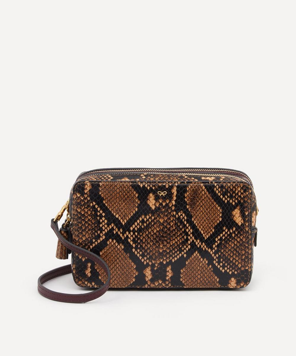 Anya Hindmarch - Python Print Leather Double Zip Cross-Body Bag