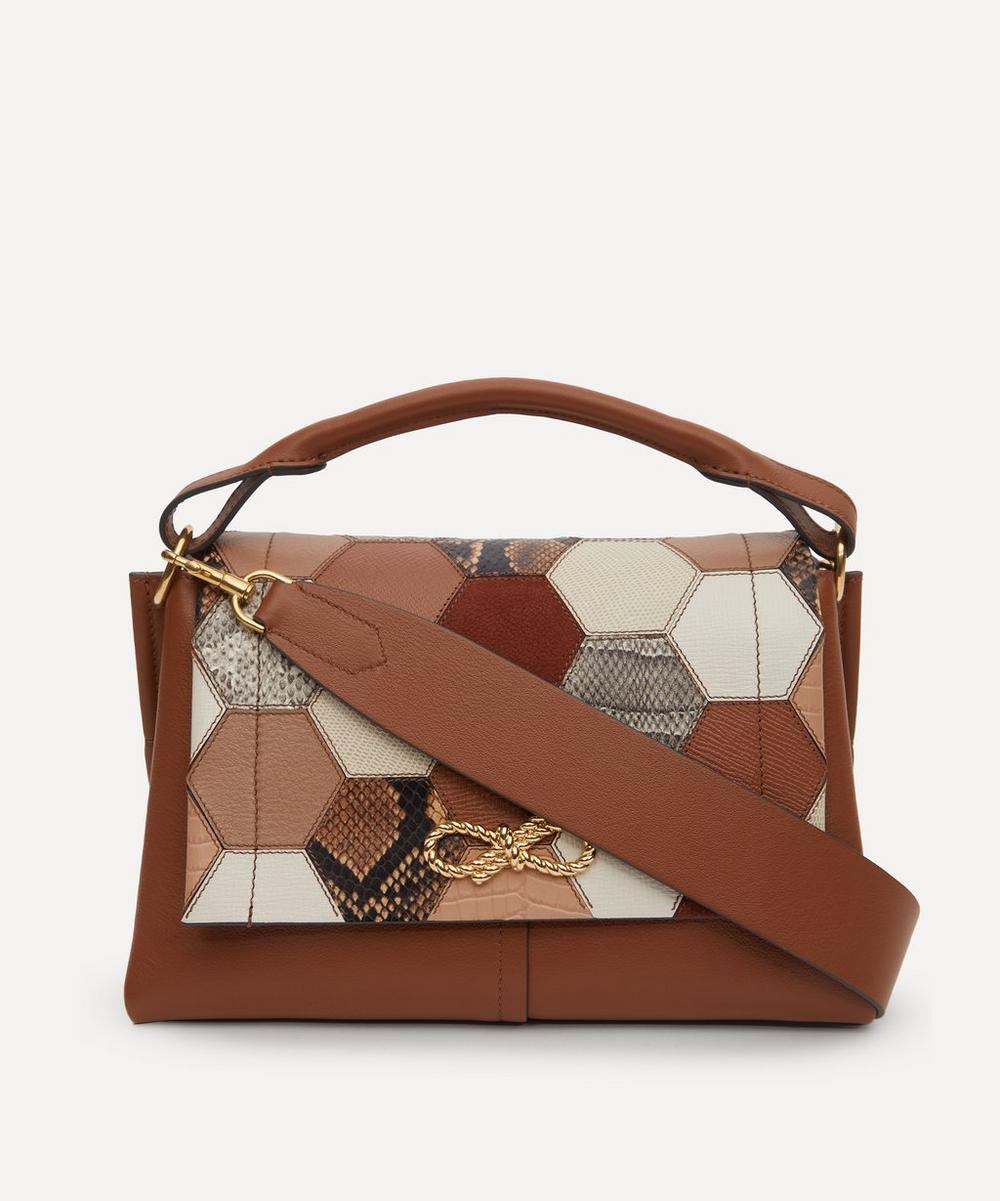Anya Hindmarch - Rope Bow Patchwork Leather Shoulder Bag