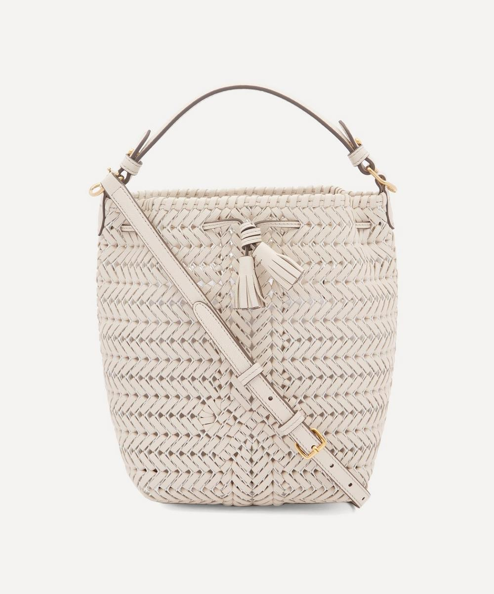 Anya Hindmarch - Small Neeson Woven Leather Drawstring Cross-Body Bag
