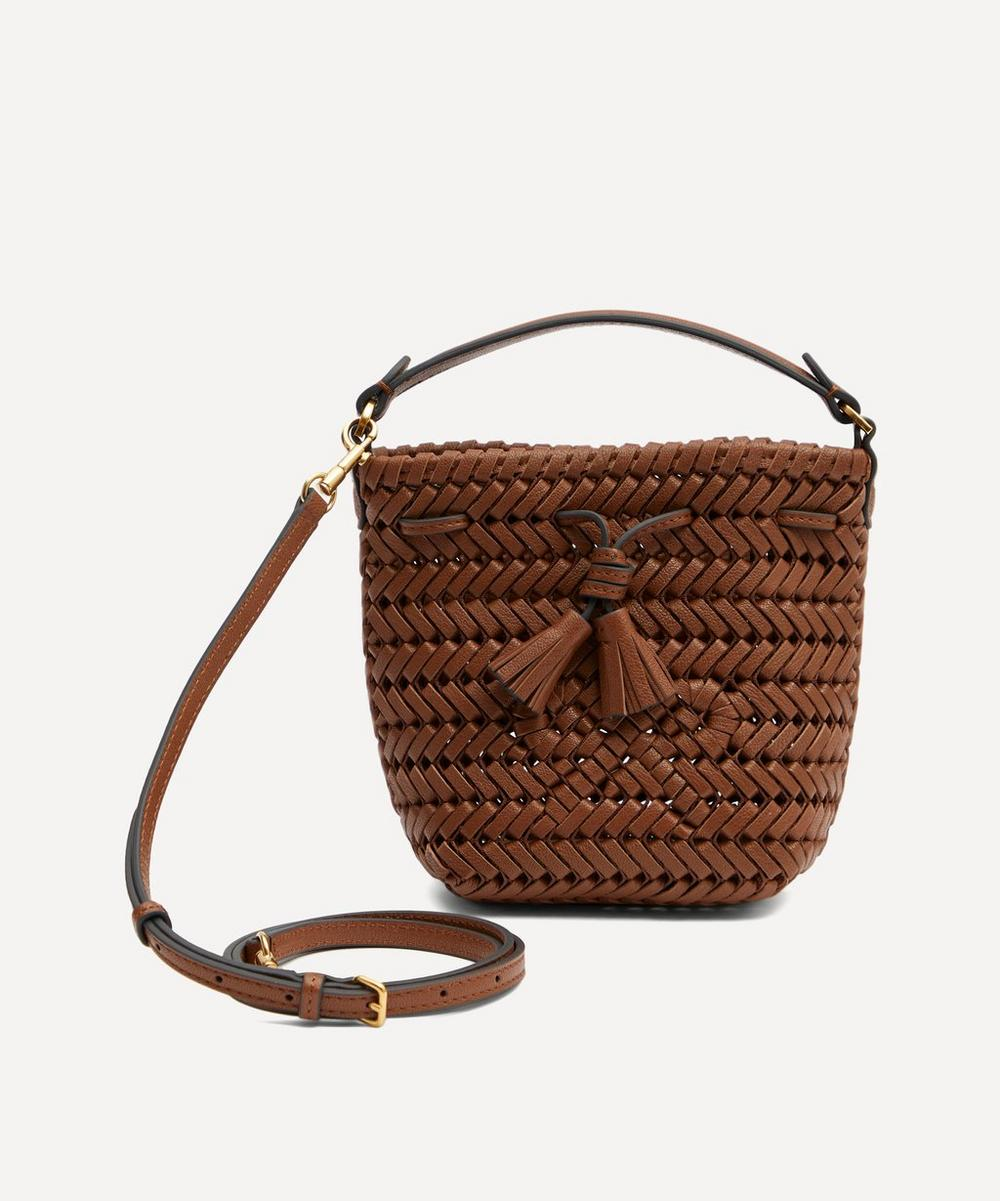 Anya Hindmarch - Micro Neeson Woven Leather Drawstring Cross-Body Bag
