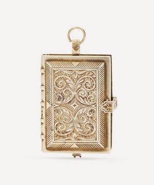 1990s Silver-Gilt Miniature Book Pocket Watch