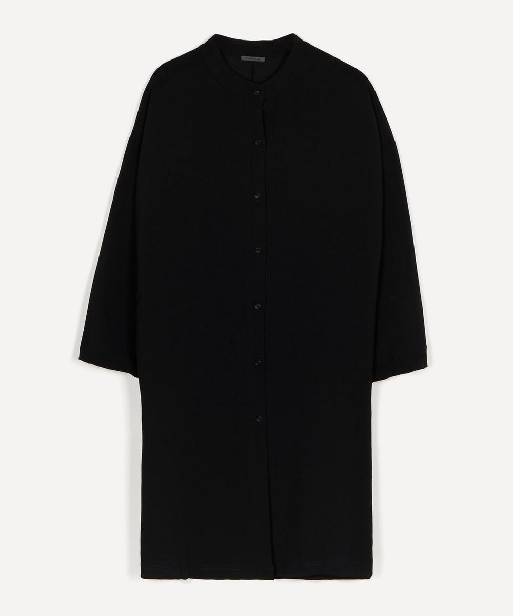 Oska - Jaguzo Crepe Button-Up Dress