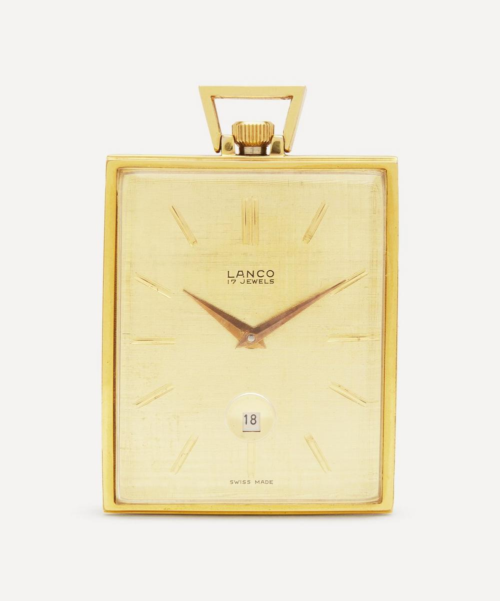 Designer Vintage - 1960s Lanco Gilt Pocket Watch