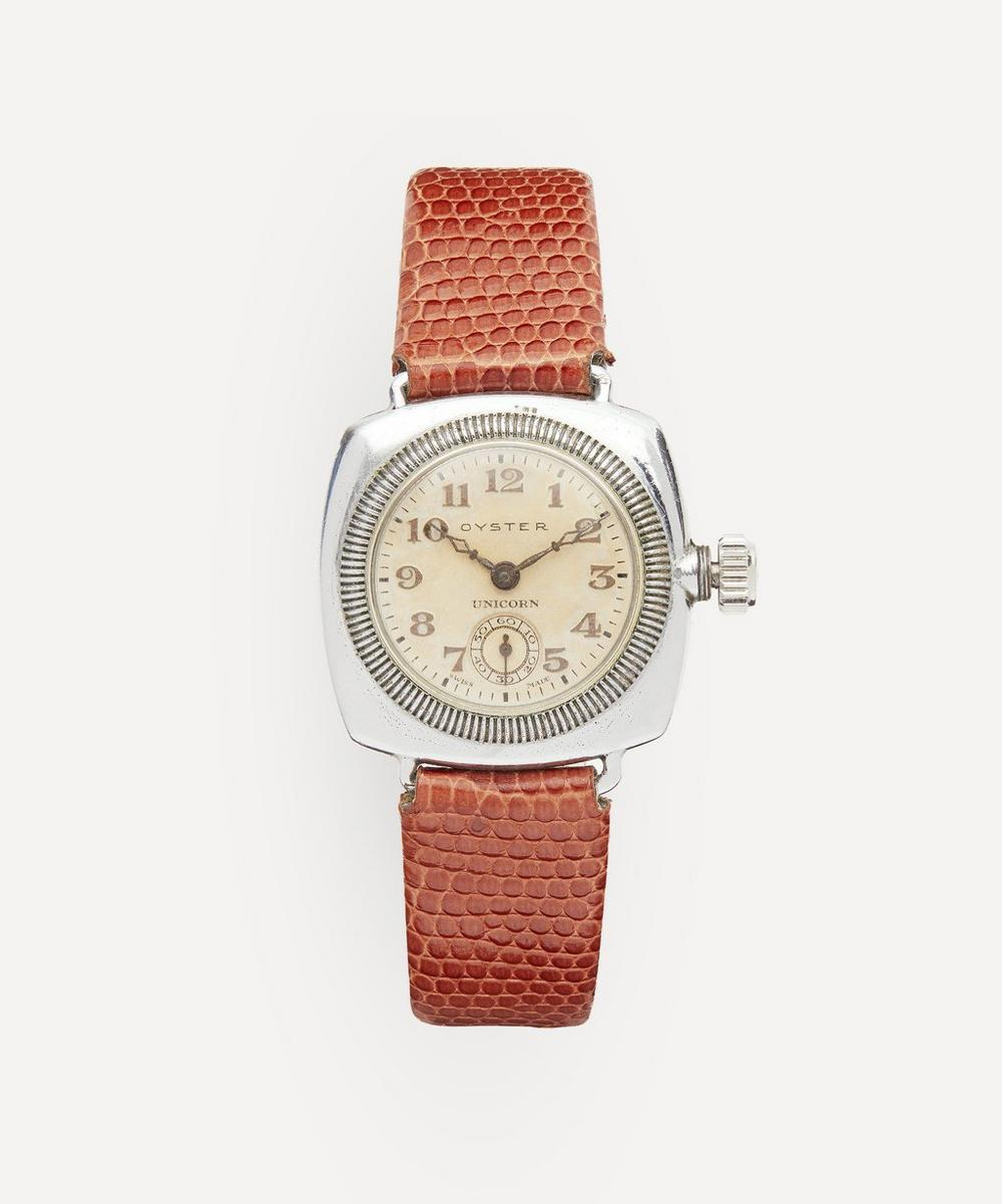 Designer Vintage - Late 1920s to Early 1930s Rolex Oyster Unicorn White Metal Watch