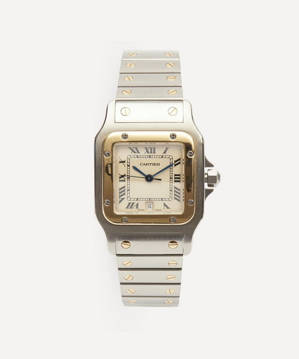 Designer Vintage - 1980s Santos de Cartier 18 Carat Gold And Steel Watch