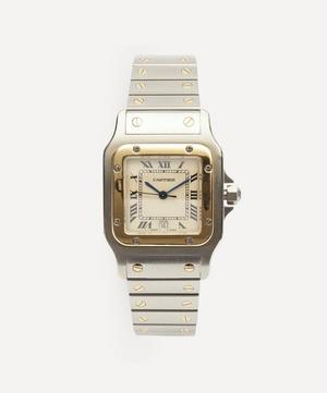 1980s Santos de Cartier 18 Carat Gold And Steel Watch