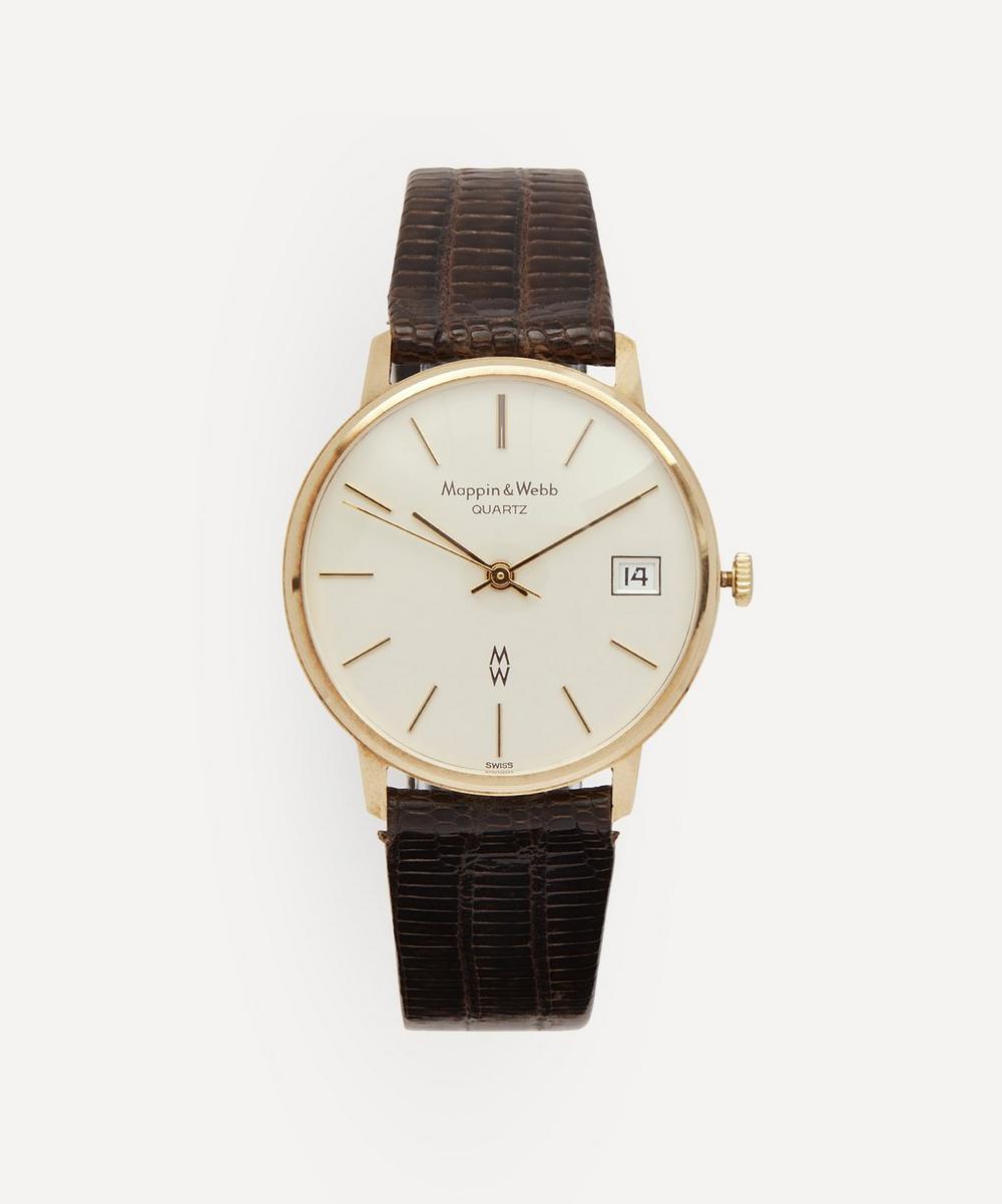 Designer Vintage - 1980s Mappin Webb 9 Carat Gold Watch