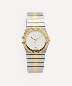 1980s Chopard St Moritz 18 Carat Gold and Steel Watch
