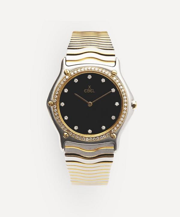 Designer Vintage - 1990s Ebel Wave 24 Carat Gold, White Metal And Diamond Watch