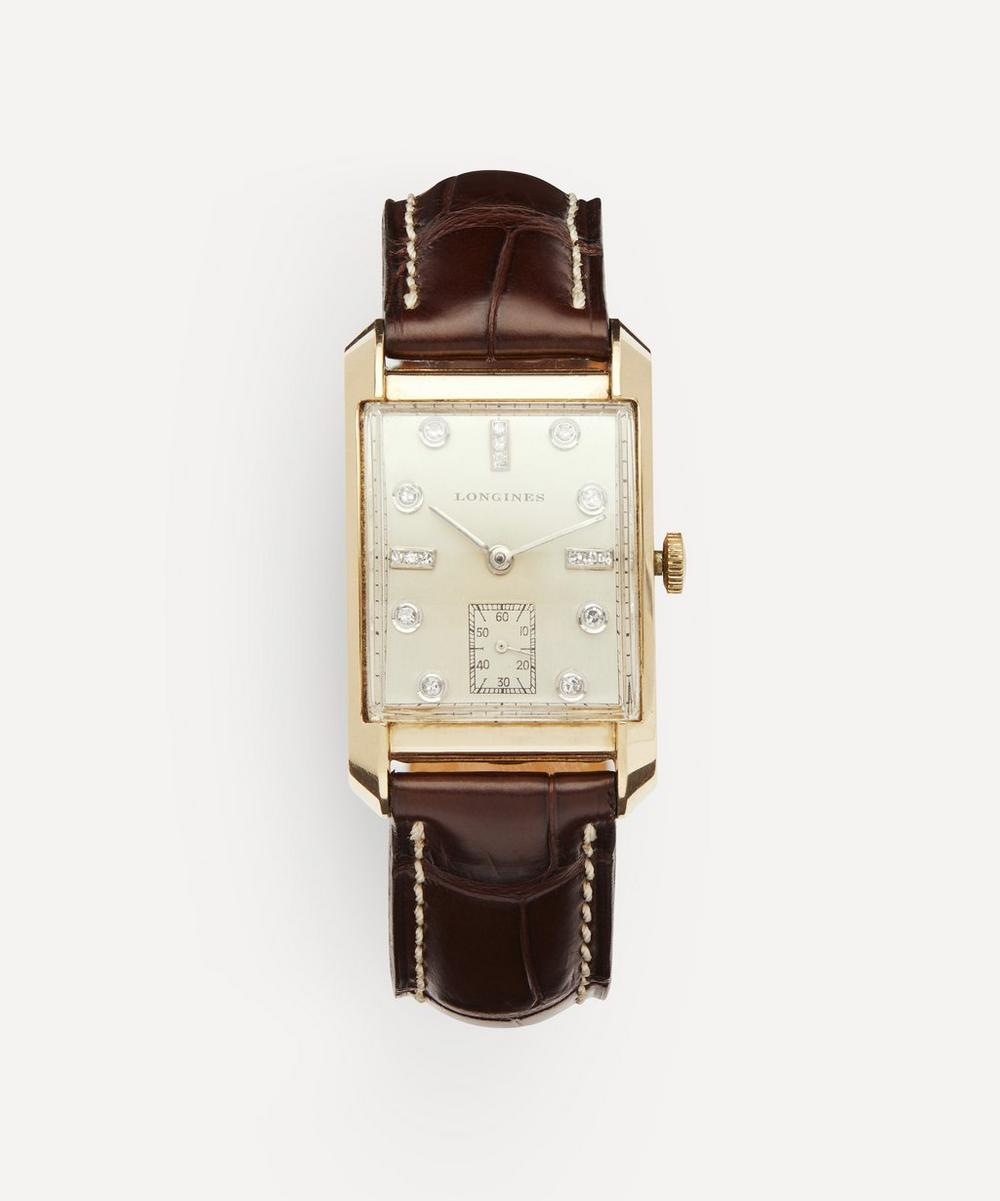 Designer Vintage - 1950s Longines 14ct Gold and Diamond Watch