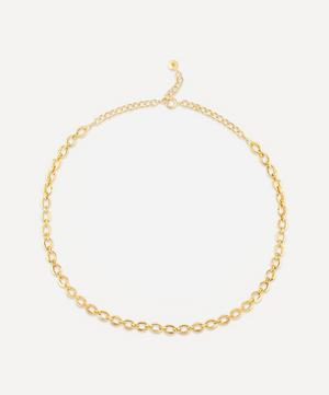 Gold Plated Vermeil Silver Handmade Small Heavyweight Chain Necklace