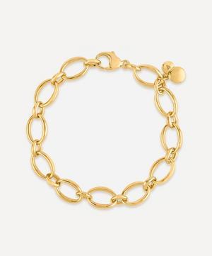 Gold Plated Vermeil Silver Handmade Medium Oval Link Chain Bracelet