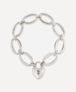 Silver Handmade Large Oval Link Chain Bracelet