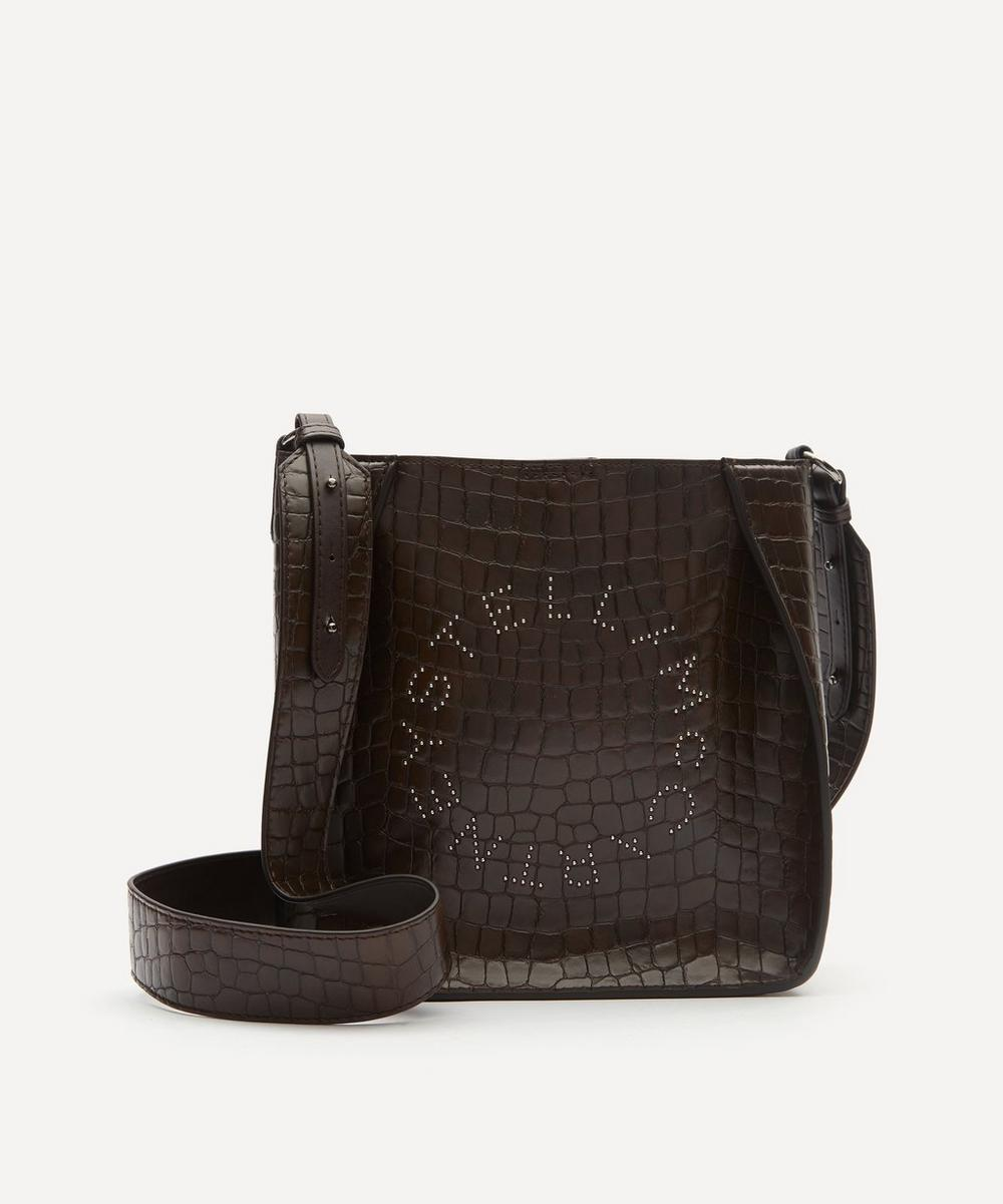 Stella McCartney - Mini Stella Logo Croc-Effect Faux Leather Shoulder Bag