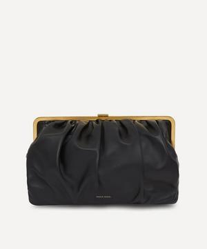 Wave Frame Leather Clutch Bag