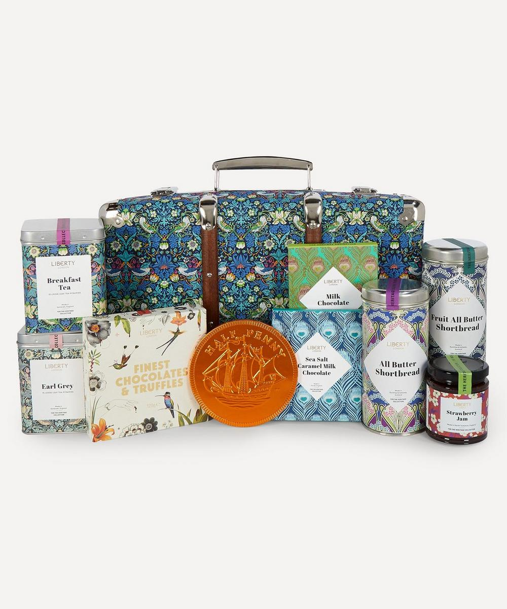 Liberty - Strawberry Thief Suitcase Hamper