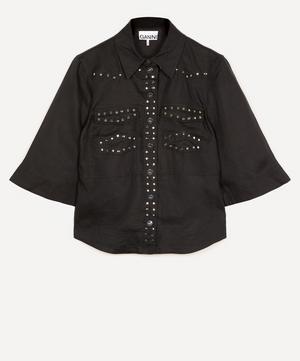 Studded Linen Shirt