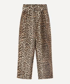 Crispy Belted Jacquard Trousers