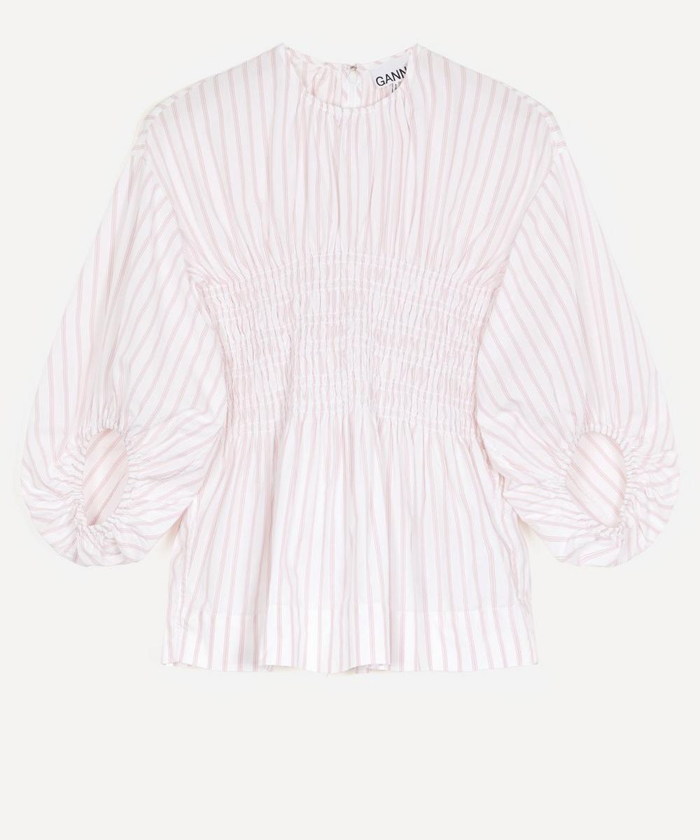 Ganni - Stripe Cotton Smock Top