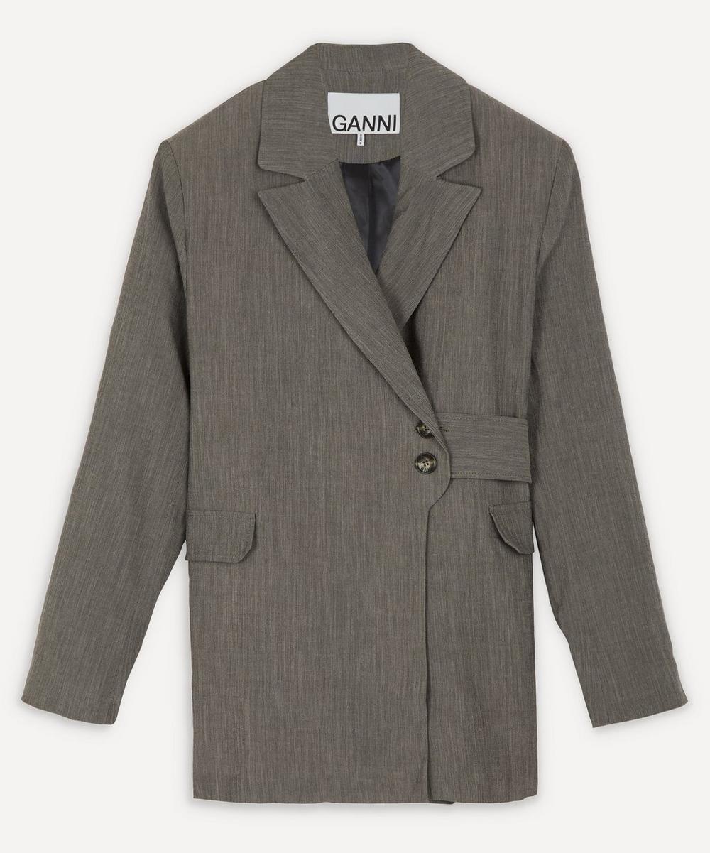 Ganni - Melange Belted Blazer