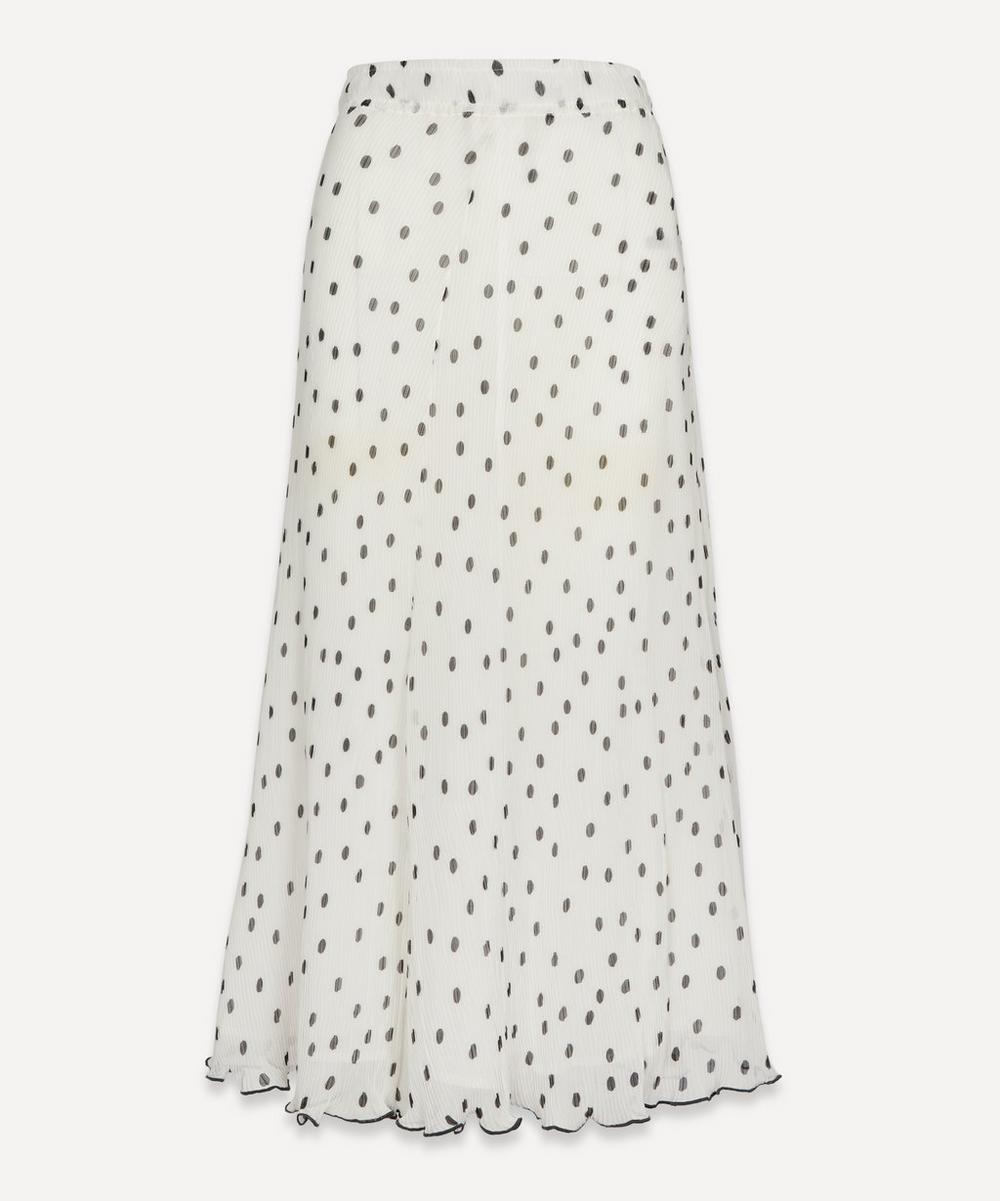Ganni - Pleated Georgette Printed Skirt