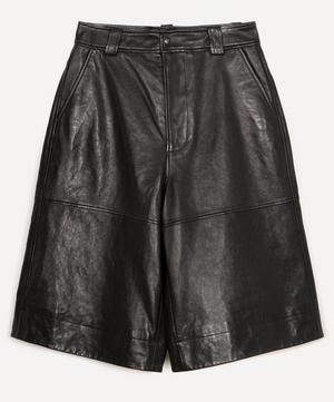 Lamb Leather Long Shorts