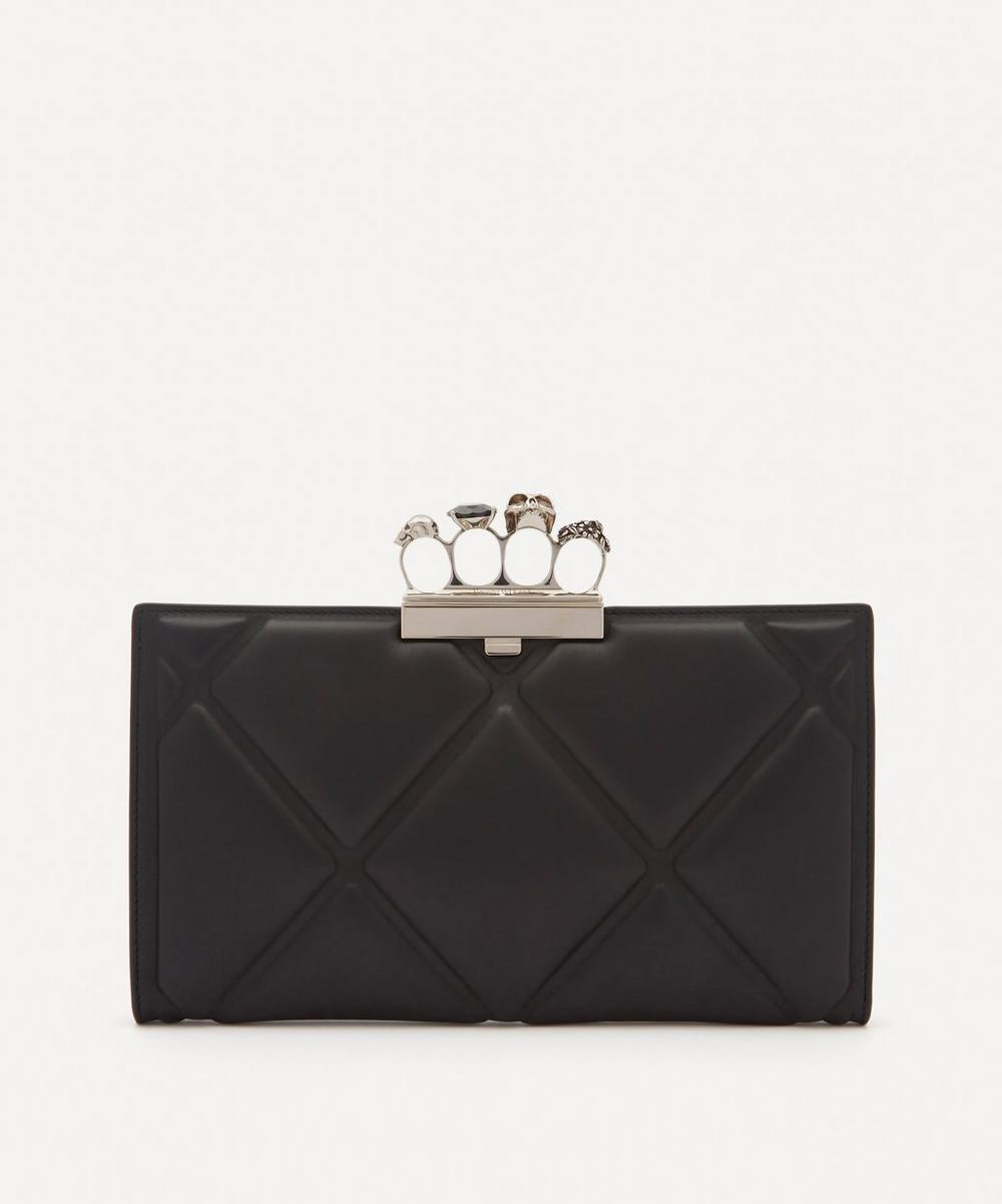 Alexander McQueen - Skull Four-Ring Quilted Leather Flat Clutch Bag