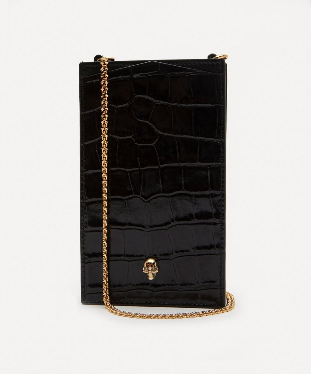 Alexander McQueen - Leather Skull Phone Case on Chain