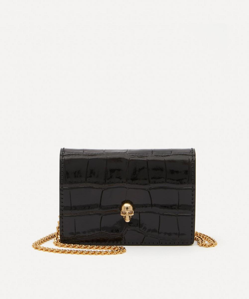 Alexander McQueen - Leather Skull Card Holder on Chain