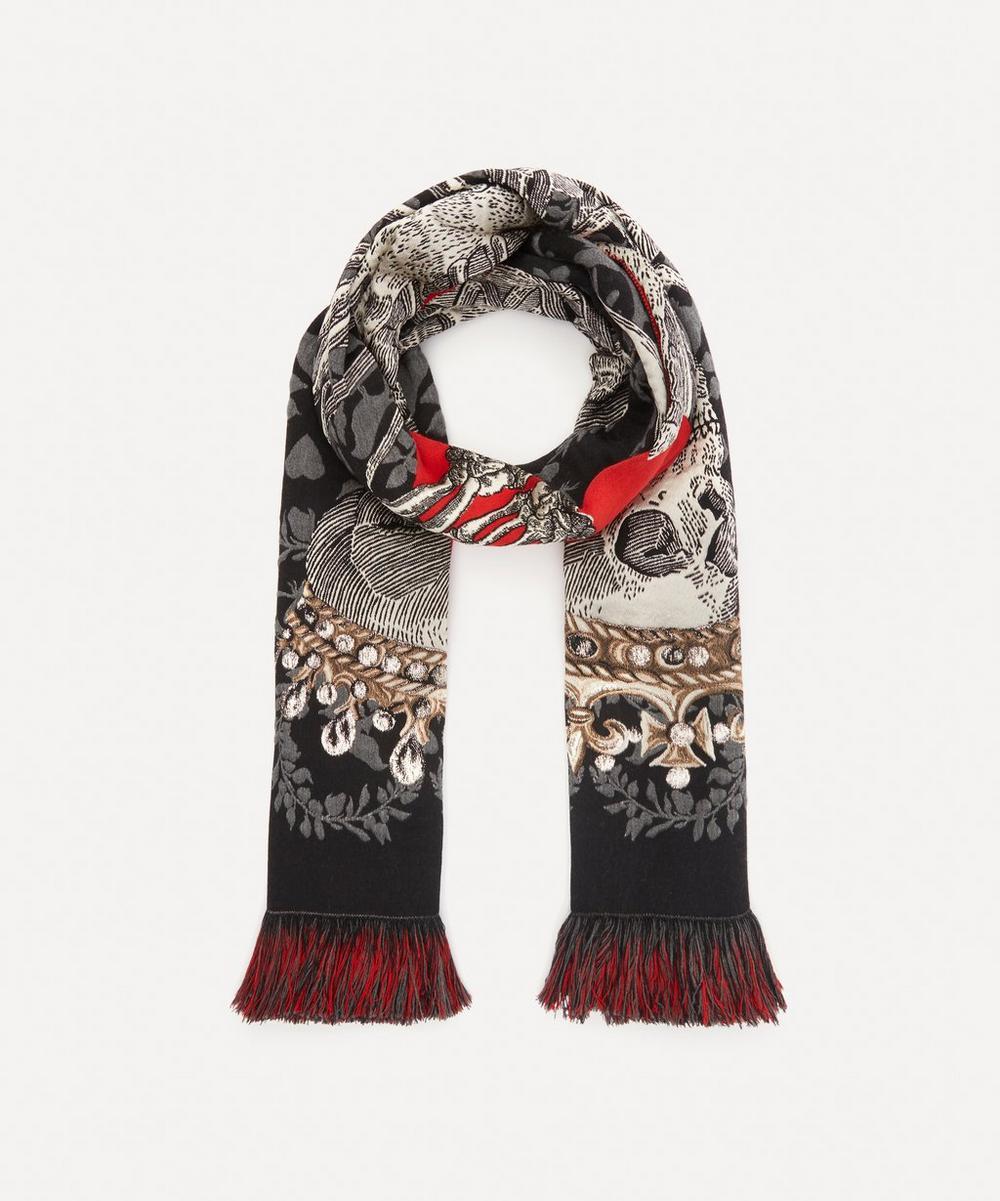 Alexander McQueen - Love Heart Skeleton Wool-Blend Scarf
