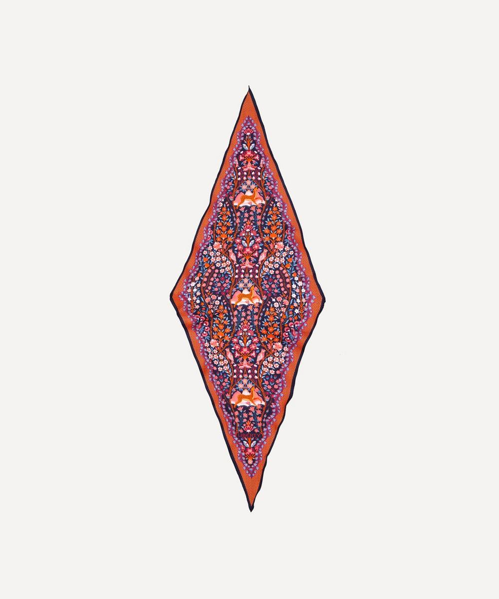 Liberty - Silverwood 106 x 36cm Silk Twill Lozenge Scarf