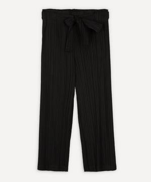 Thick Pleat Belted Trousers