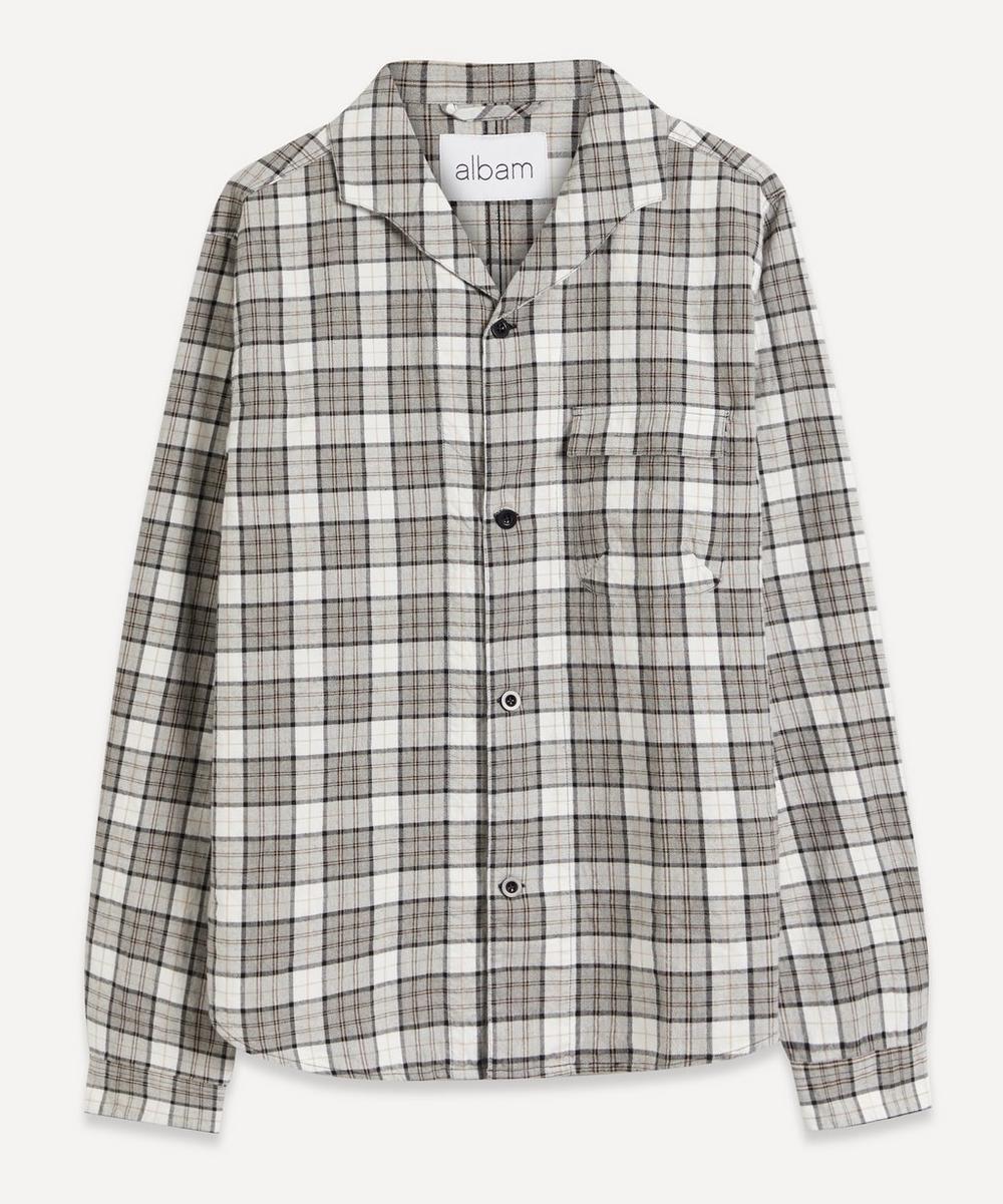 Albam - Miles Checked Open-Collar Shirt