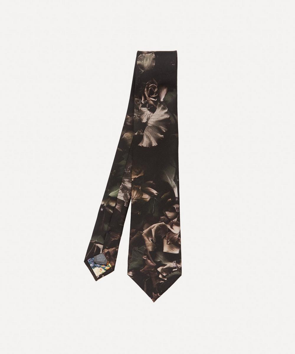 Paul Smith - Floral Photo Print Silk Tie