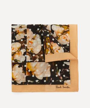 Polka Dot and Orchid Print Pocket Square