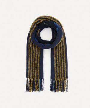 Thin Stripe Wool Scarf