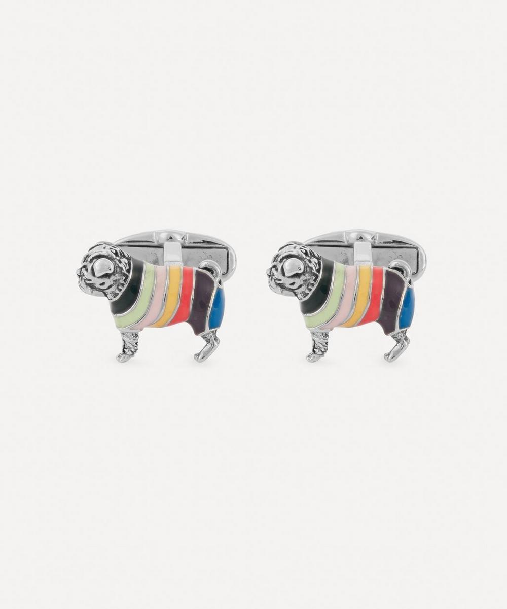 Paul Smith - Artist Stripe Sweater Dog Cufflinks