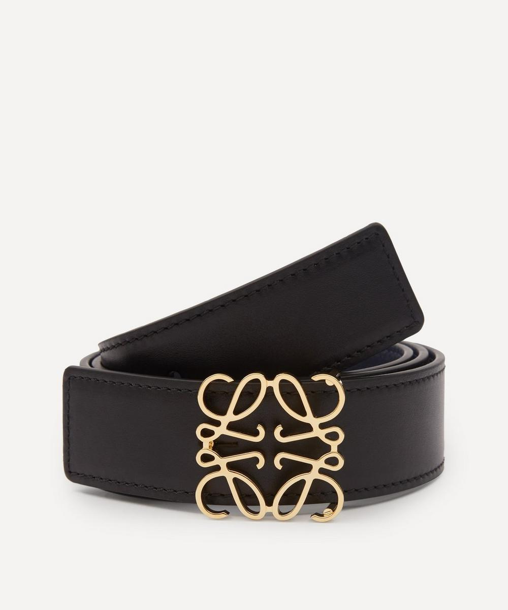 Loewe - Anagram Buckle Leather Belt
