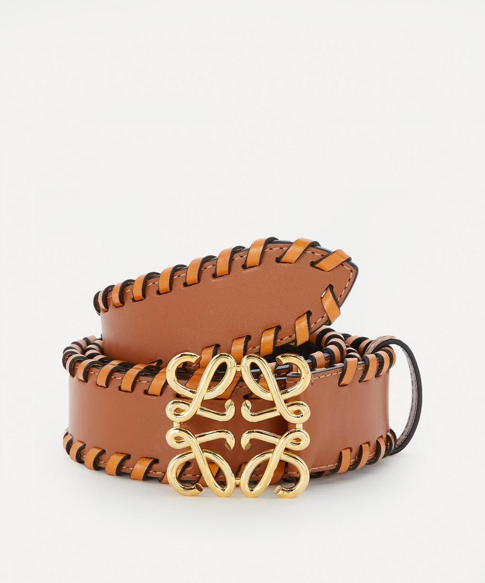 Loewe - Anagram Buckle Braided Leather Belt