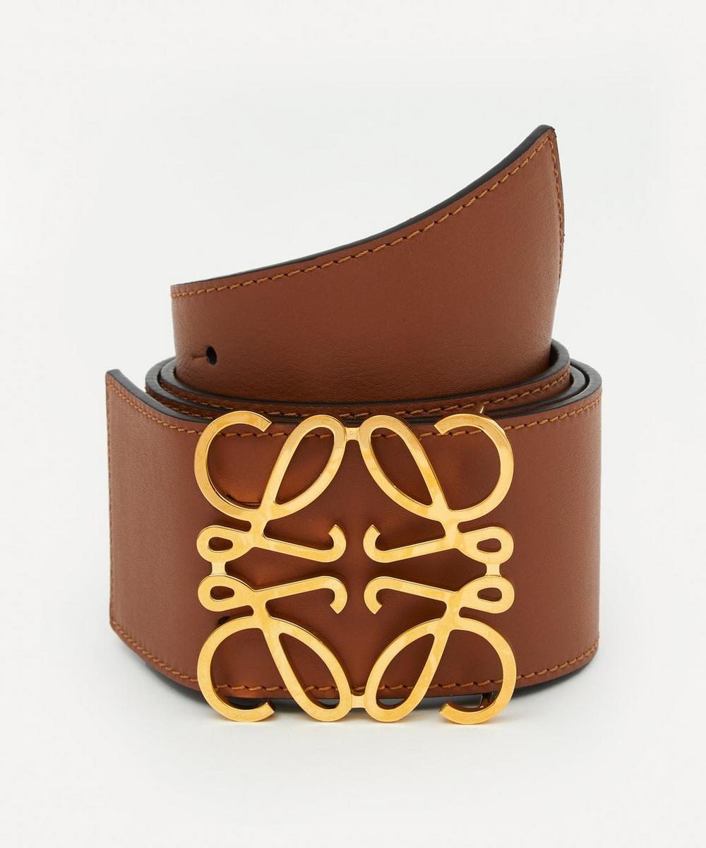 Loewe - Anagram Buckle Wide Leather Belt