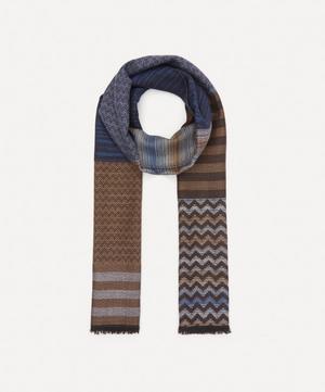 Striped Zig-Zag Wool Scarf
