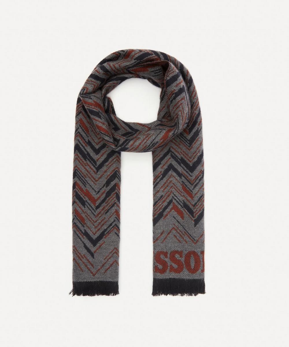 Missoni - Logo-Intarsia Fringed Wool Scarf