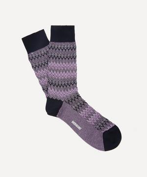 Crochet-Knit Zig-Zag Socks