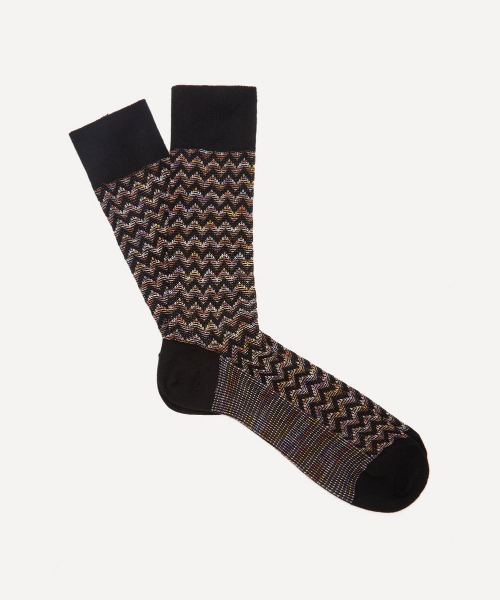 Missoni - Crochet-Knit Zig-Zag Socks