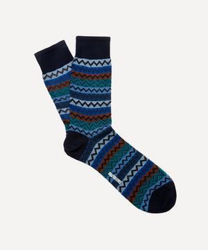 Striped Zig-Zag Socks