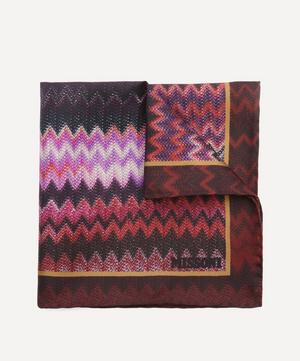 Zig-Zag Silk-Twill Pocket Square